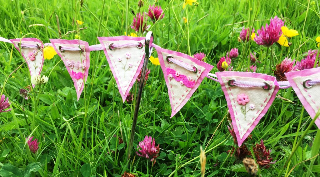 Bunting in clover www.kateskloths.co.uk