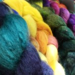 Hand Dyed Yarn and Fibres Woolfest 1