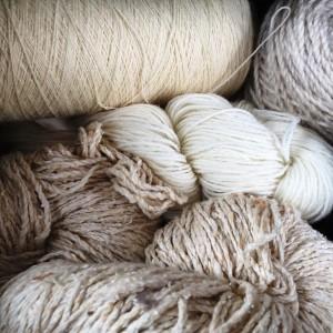 Undyed yarn stash